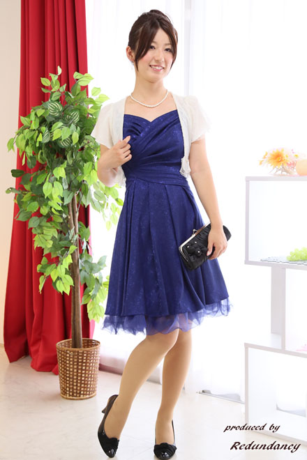 bdf966f6f5bb1 レンタルドレスのワンピの魔法 白シフォン襟パールの半袖ボレロ パーティードレス、フォーマルドレスのネットレンタル ...